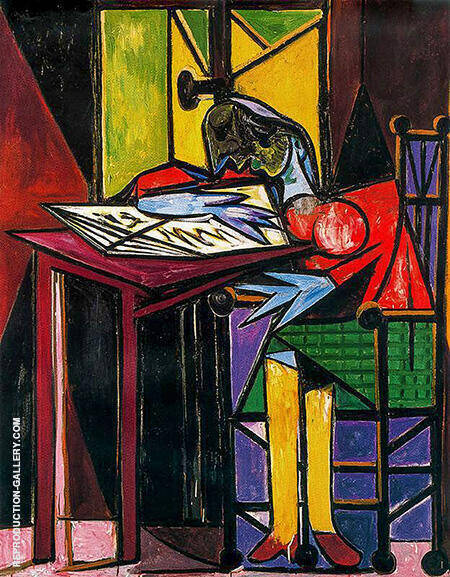 Woman Reading 1935 By Pablo Picasso - Oil Paintings & Art Reproductions - Reproduction Gallery