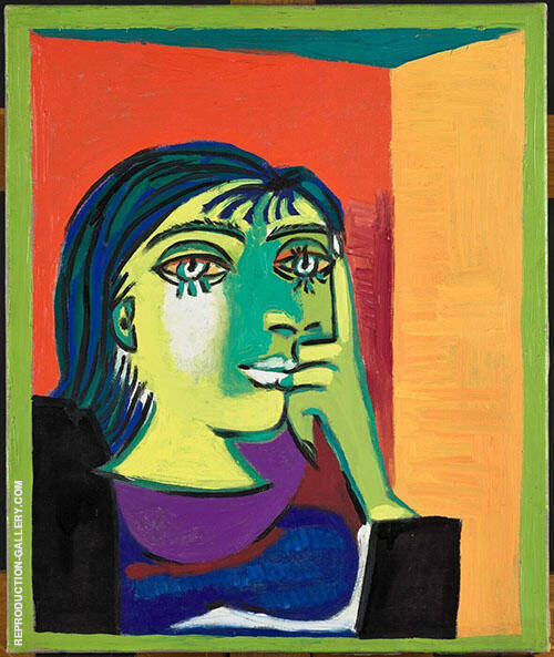 Portrait of Dora Maar 1937 By Pablo Picasso