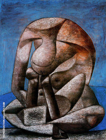 Great Bather with Book 1937 By Pablo Picasso - Oil Paintings & Art Reproductions - Reproduction Gallery