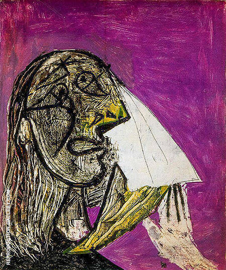 Reproduction of Weeping Woman 1937 by Pablo Picasso | Oil Painting Replica On CanvasReproduction Gallery