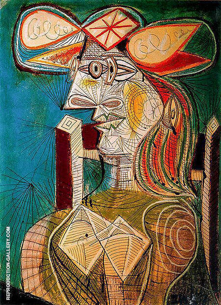 Seated Woman II 1938 By Pablo Picasso