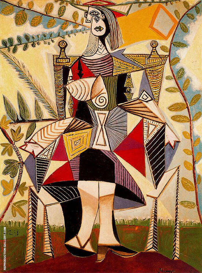 Seated Woman in a Garden 1938 By Pablo Picasso
