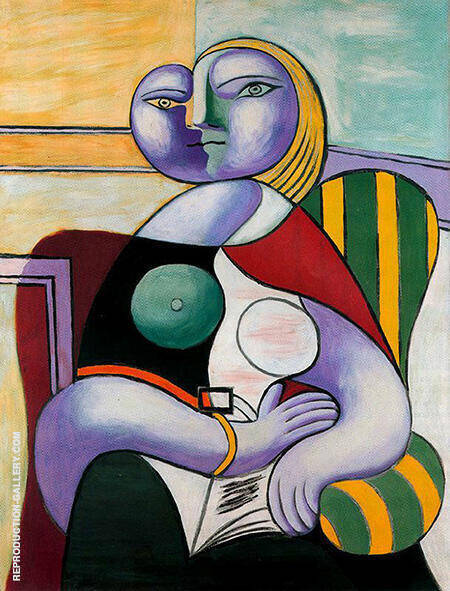 Reading 1932 By Pablo Picasso - Oil Paintings & Art Reproductions - Reproduction Gallery
