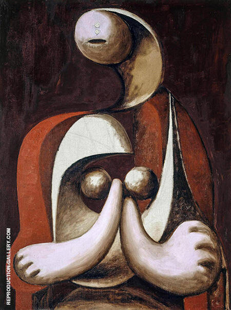 Seated Woman in a Red Armchair 1932 By Pablo Picasso - Oil Paintings & Art Reproductions - Reproduction Gallery