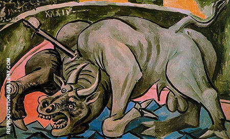 Dying Bull 1934 By Pablo Picasso