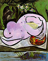 Nude in a Garden 1934 By Pablo Picasso