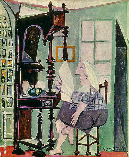 Woman at the Sideboard 1936 By Pablo Picasso - Oil Paintings & Art Reproductions - Reproduction Gallery