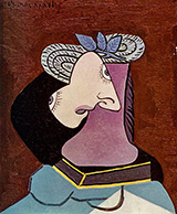 Lady in a Straw Hat 1936 By Pablo Picasso