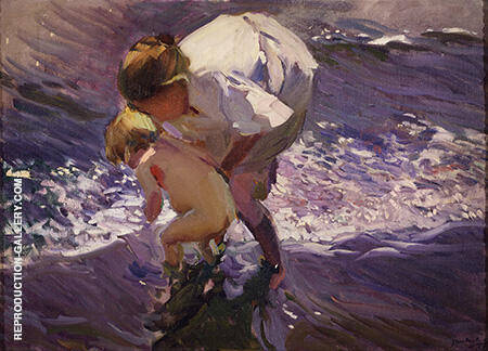 Swim at the Beach 1908 By Joaquin Sorolla - Oil Paintings & Art Reproductions - Reproduction Gallery