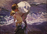 Swim at the Beach 1908 By Joaquin Sorolla