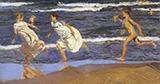 Running on the Beach 1908 By Joaquin Sorolla