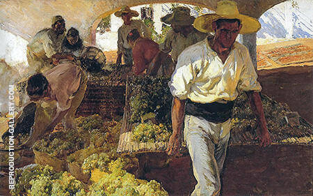 Preparing Raisins 1900 By Joaquin Sorolla