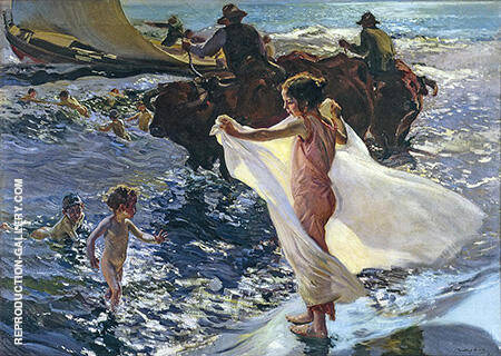 Bathing Time 1904 By Joaquin Sorolla