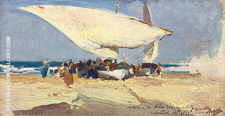 La Llegada de la Pesca Playa de Valencia 1898 By Joaquin Sorolla - Oil Paintings & Art Reproductions - Reproduction Gallery