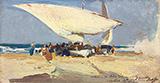 La Llegada de la Pesca Playa de Valencia 1898 By Joaquin Sorolla