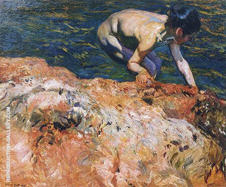 Looking For Shellfish 1905 By Joaquin Sorolla