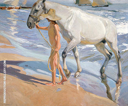 The Horse's Bath 1909 By Joaquin Sorolla