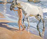 The Horse's Bath 1909 By Joaquin Sorolla