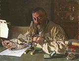 Portrait of Dr Simarro at the Microscope 1897 By Joaquin Sorolla