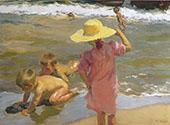 Children on the Seashore 1903 By Joaquin Sorolla