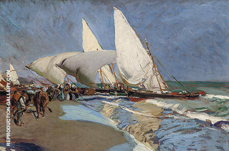 The Beach at Valencia 1908 By Joaquin Sorolla - Oil Paintings & Art Reproductions - Reproduction Gallery