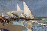 The Beach at Valencia 1908 By Joaquin Sorolla