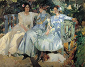 My Wife and Daughters in the Garden 1910 By Joaquin Sorolla