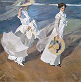 Strolling along the Seashore 1909 By Joaquin Sorolla