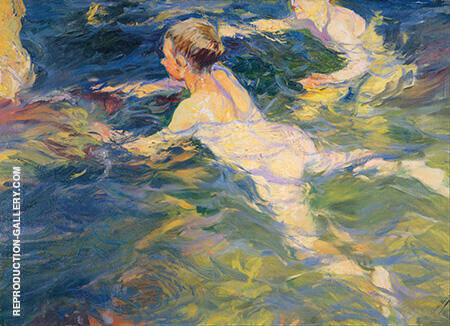 Swimmers 1905 By Joaquin Sorolla - Oil Paintings & Art Reproductions - Reproduction Gallery