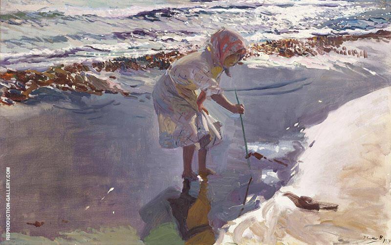 Buscando Mariscos Playa de Valencia By Joaquin Sorolla