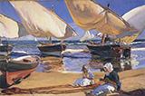 On the Beach at Valencia 1916 By Joaquin Sorolla