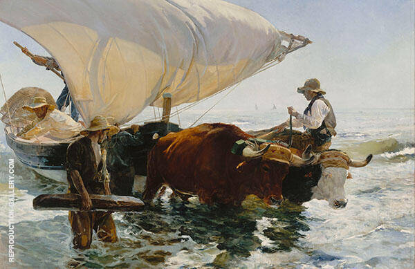 The Return from Fishing 1894 by Joaquin Sorolla   Oil Painting Reproduction Replica On Canvas - Reproduction Gallery