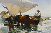 The Return from Fishing 1894 By Joaquin Sorolla
