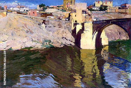 San Martin Bridge At Toledo 1906 By Joaquin Sorolla