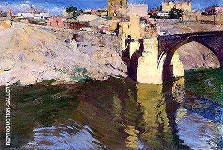 San Martin Bridge At Toledo 1906 By Joaquin Sorolla