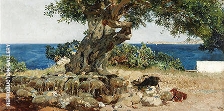 Carob Tree 1899 By Pablo Picasso - Oil Paintings & Art Reproductions - Reproduction Gallery