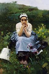 The Milkmaid By Joaquin Sorolla