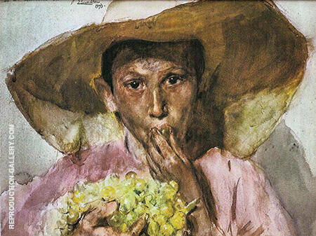 Eating Grapes By Joaquin Sorolla - Oil Paintings & Art Reproductions - Reproduction Gallery