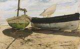 Fishing Boats On The Beach Valencia 1894 By Joaquin Sorolla