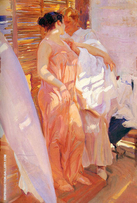 After The Bath 1916 By Joaquin Sorolla - Oil Paintings & Art Reproductions - Reproduction Gallery