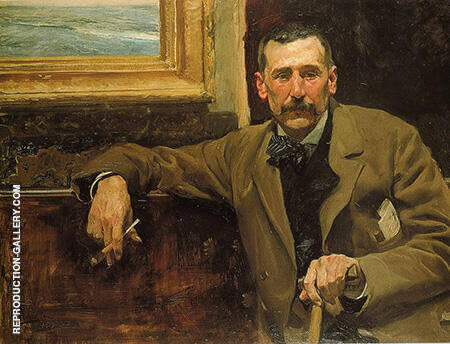Benito Perez Galdos By Joaquin Sorolla - Oil Paintings & Art Reproductions - Reproduction Gallery