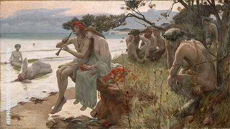 Pastoral c1893 By Rupert Bunny - Oil Paintings & Art Reproductions - Reproduction Gallery