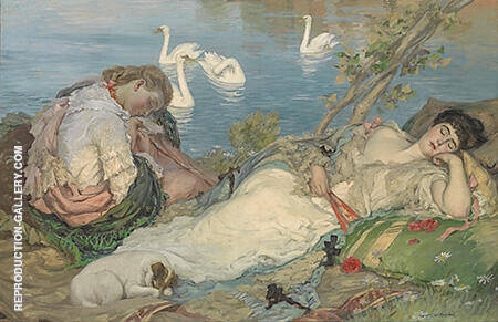 Endormies 1904 By Rupert Bunny - Oil Paintings & Art Reproductions - Reproduction Gallery