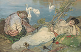 Endormies 1904 By Rupert Bunny