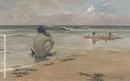 Mermaids 1891 Painting By Rupert Bunny - Reproduction Gallery