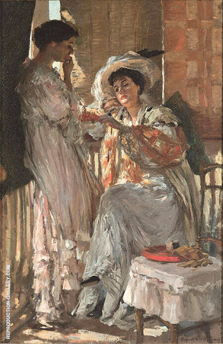 Reproduction of Cherries c1908 by Rupert Bunny | Oil Painting Replica On CanvasReproduction Gallery