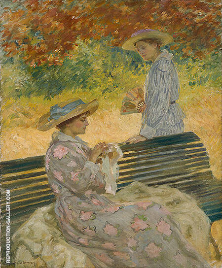 The Garden Bench c1915 By Rupert Bunny