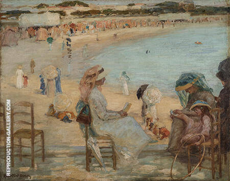 On the Beach Royan c1908 By Rupert Bunny