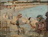 On the Beach Royan c1908 By Rupert Bunny