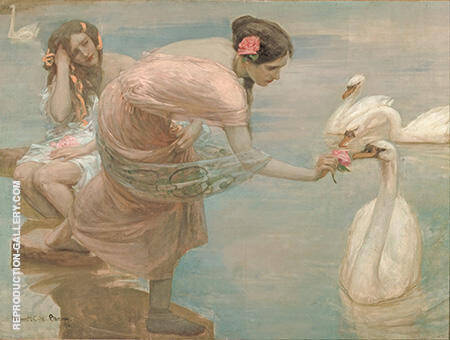 A Summer Morning 1897 By Rupert Bunny - Oil Paintings & Art Reproductions - Reproduction Gallery